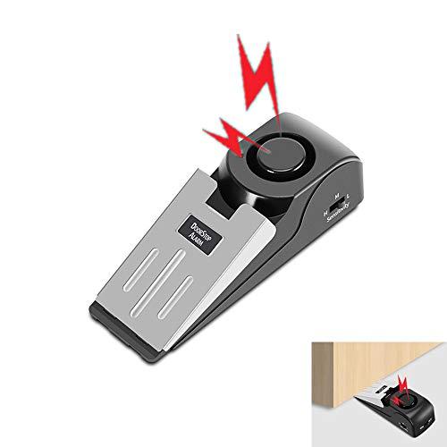 2er Pack Türwiderstand Einbruchalarm Home Security Wireless Magnetsensor Einbruchdiebstahl-Alarm mit Batterien im Lieferumfang enthalten - einfach zu installieren Alarm Security Bar