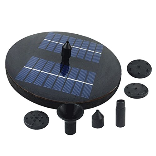 ounona 1.6W Wasserpumpe Solar mit Lichterkette LED Tauchpumpe Springbrunnen Wasserspiel für Garten Teich Terrasse