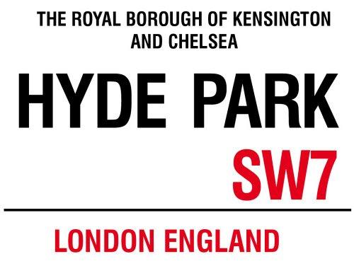 Preisvergleich Produktbild London - Hyde Park - Blechschilder Nostalgie - Grösse 20x15 cm