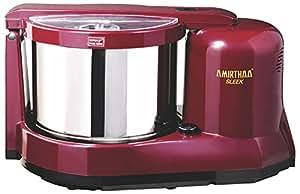 AMIRTHAA SLEEK Table Top Wet Grinder - 2 Liter (Wine Red)