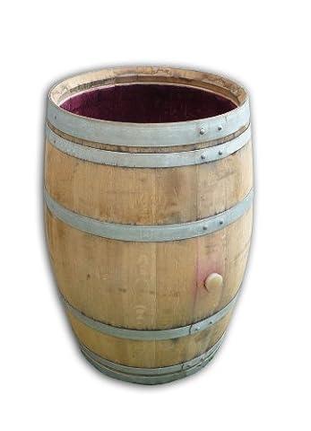 Wine Barrel as rain basin, rain barrel and water tank incl. lid. 100% Oak. Beautiful garden