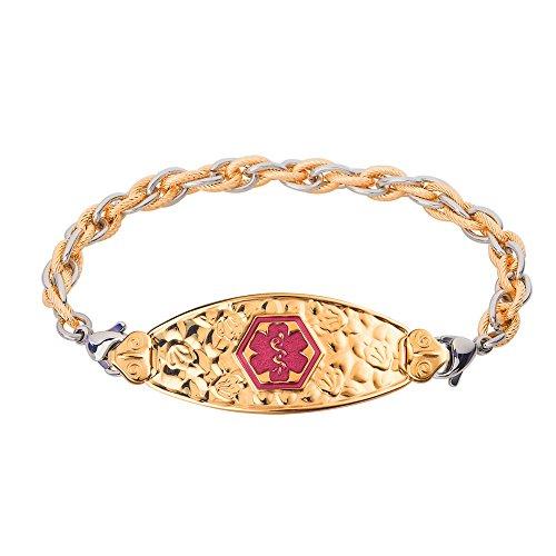 divoti-custom-engraved-pvd-gold-cherry-blossom-medical-alert-bracelet-inter-mesh-gold-silver-tp-mage