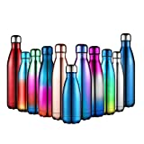 Vacuum Flask, Anjoo Stainless Steel Vacuum Insulated Water Bottle Double-walled for Running, Camping