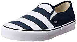Vans Mens Slip-On Sf (Stripes) Dress Blues Loafers and Moccasins - 8 UK/India (42 EU)