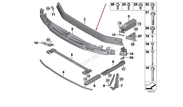 GTV INVESTMENT 5 F11 Hecksto/ßstange Abschlepp/öse Kappe 51127254922 Neu Original