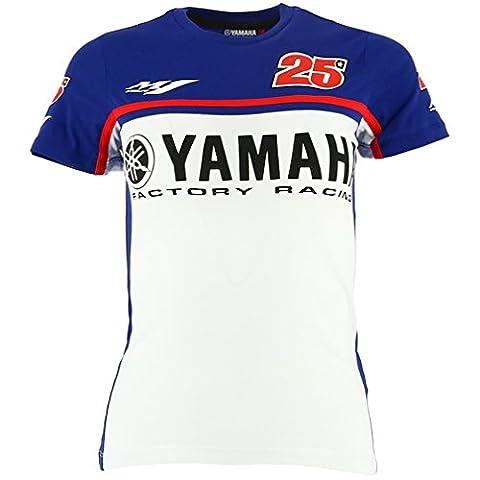 Maverick Vinales 25 Moto GP Yamaha Factory Racing Femmes T-shirt Officiel 2017