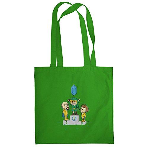 Texlab–Blue Crystal–sacchetto di stoffa Verde