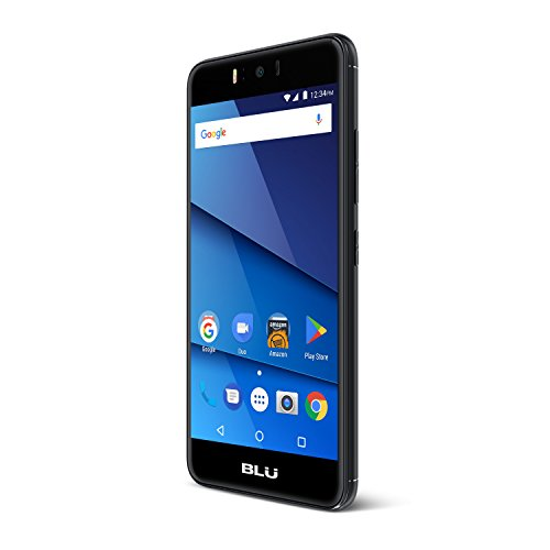 BLU R0150EE R2 Smartphone 13,20 cm (5,2 Zoll) (8MP Hauptkamera, 16GB Interner Speicher 2GB RAM Micro SD, SIM-freies Dual-SIM, Android 7.0 Nougat) schwarz (Iphone 5 16gb Schwarz Unlocked)