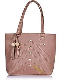 Splice Women Tote Bags Women's Quality Trendy Shoulder Handbags (Pink)