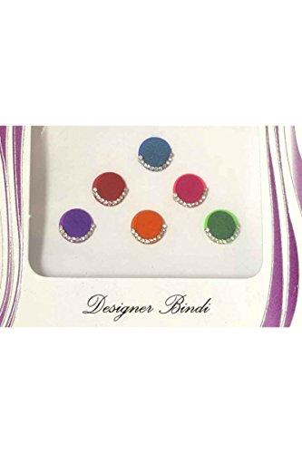 BIN525: Designer Satz von Multi und Stein/Bead Bindis/Tätowierung Bollywood Stickers Indian Bindi (Bridal Designer Sarees)