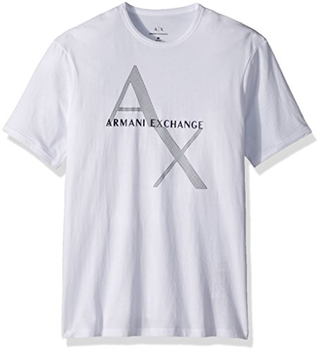 Armani Exchange Herren T-Shirt 8NZT76 8NZT76Z8H4Z, Gr. Medium, Weiß (White 1100)