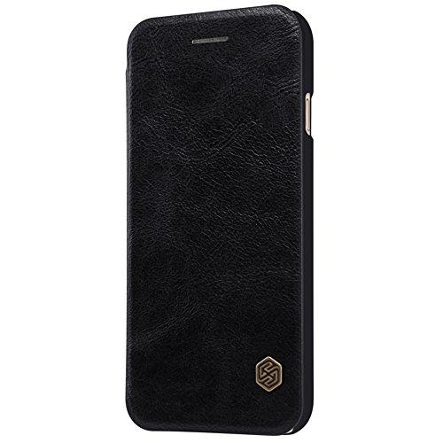 Coque iPhone 8  iPhone8, AVIDET Bookstyle Étui Housse en Cuir Case à rabat pour iPhone 8  iPhone8 étui case cover coque avec fonction de support et fente (Rouge) Noir