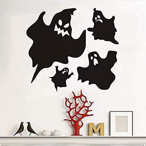 Gcbpwh Scary Ghosts Halloween Party Fenster Aufkleber Moderne Wandaufkleber Für Schlafzimmer Wohnzimmer Wohnkultur Wasserdichte Zubehör Tapete 44X40 Cm