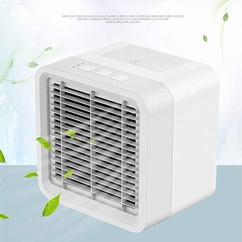 50 Cfm-motor (chalkalon Mini Luftkühler, 3-in-1-Mini-USB Tragbare Persönliche Klimaanlage, Luftbefeuchter, Luftreiniger, Desktop-Lüfter mit 3 Geschwindigkeiten für das Hauptschlafzimmer Wohnzimmer Büro Auto)