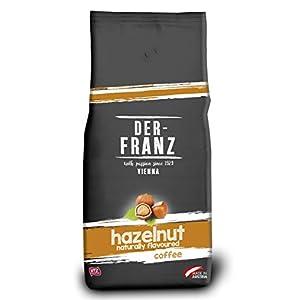 Der Franz, caffè miscela di Arabica e Robusta, torrefatto, fagiolo intero aromatizzato alla nocciola, naturale, UTZ…