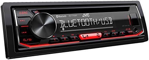 JVC KD-T702BT Autoradio CD Bluetooth avec Tuner Audio Haute Performance USB et Spotify Control Rouge 4 x 50 W