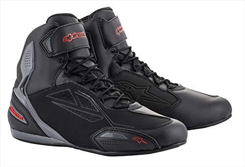Alpinestars Stivali da moto Faster-3 Drystar Shoes Black Grey Red, Nero/Grigio/Rosso, 42