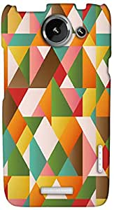 Timpax Protective Hard Back Case Cover Printed Design : Colourful Pattern.Specifically Design For : HTC X+ ( Plus )