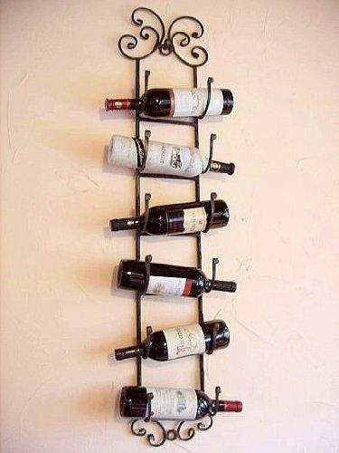 Scaffale vini scaffale bottiglie da appendere in ferro battuto porta bottiglie scaffale a parete - Porta vino da parete ...