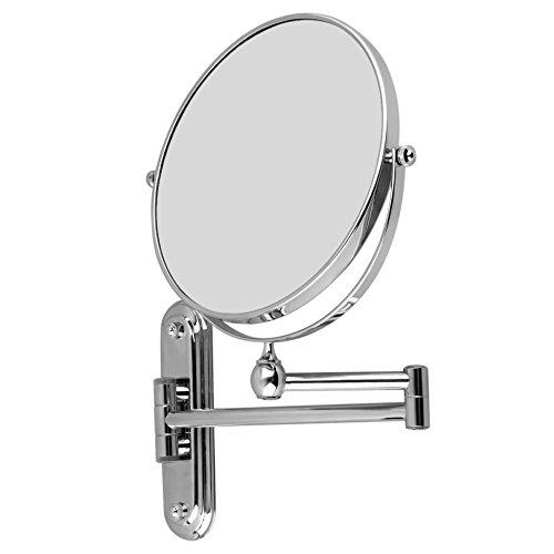 Malayas Espejo de Aumento de Pared, 10X Ampliación, Espejo de Doble Cara de Aumento y Normal, Espejo...