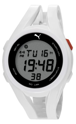 Puma Time - PU911131002 - Montre Homme - Quartz Digitale - Chronomètre - Bracelet Résine Blanc