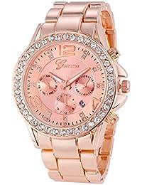 1ab94d1f4f15 Daylin Relojes Mujer Señora Deportivos de Moda Reloj Pulsera Analogico de  Cuarzo Multiesfera de Diamantes Reloj