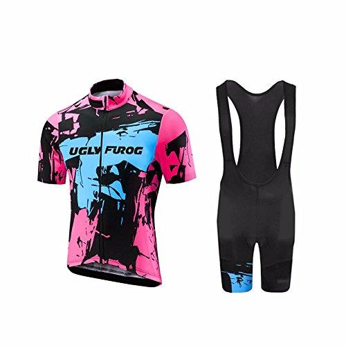 UGLYFROG Wear Ciclismo Hombre Bicycle Maillots +Pantalones cortos Set Manga Corta Verano Transpirable Secado Rápido Cycling Clothes