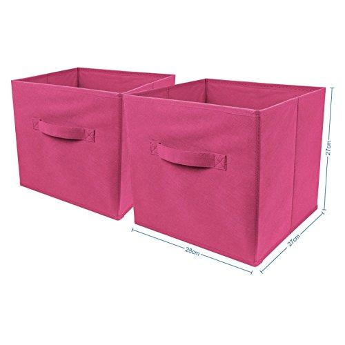 Top Home Solutions - Conjunto de 2cajas de almacenamiento en forma d