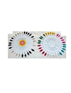 Schalnadeln, 90 Stück, Blatt-Form, 2 Räder, 1 x mehrfarbig, 1 x Schwarz-Weiß, Sicherheitsnadeln für Schals, Schwarz