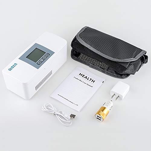41N14%2Bgy46L - MaquiGra Nevera Portátil para Medicamento Nevera Inteligente para Coche Refrigerador de Medicina Mini Caja de insulina Semiconductor Refrigerador de Coche Viaje Hogar(2-8℃) Temperatura Constante
