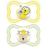 #5: MAM AIR 6+M SOOTHER (YELLOW-GREEN)
