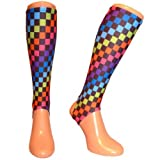 Shinnerz inner sock - shin liner protection under shin pad. (Checkers, 5-7 yrs)