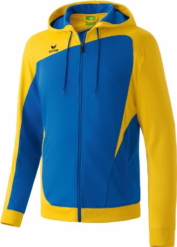 erima Kinder Trainingsjacke Club 1900 mit Kapuze, new royal/gelb, 152, 307336