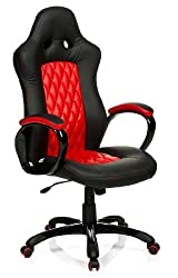 hjh OFFICE 621844 Racing Chefsessel RACER EXECUTIVE Kunstleder Schwarz/Rot Gaming PC Stuhl