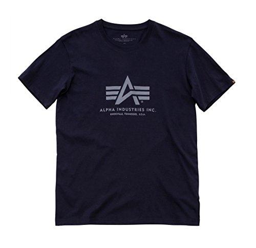Alpha Industries Basic Logo T-Shirt Logo Shirt (M, rep.blue)
