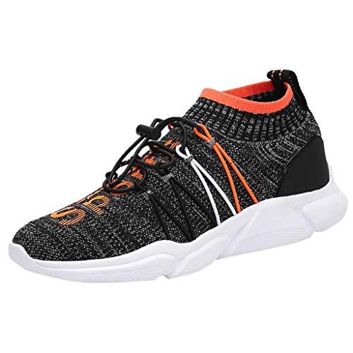 DDKK Schuhe für Damen und Herren, leicht, Rennsport, Polyester-Netz, Joggingschuhe, sportlich, atmungsaktiv, gestrickt US Size: 10 Orange