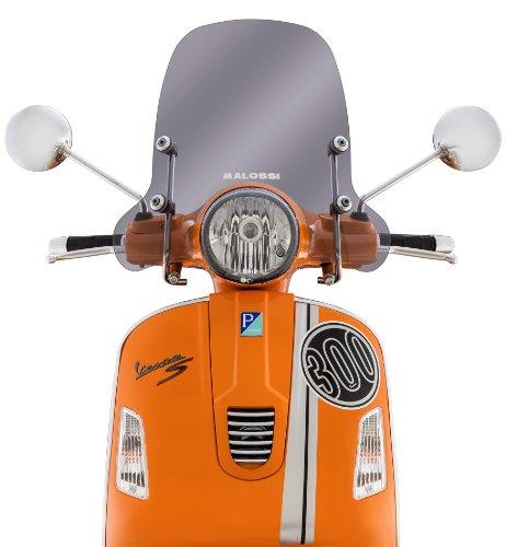 Windschild MALOSSI, Sport Screen, getönt, für Vespa GTS/GTS Super/GT/GT L 125 -300ccm H 330mm, B 485mm, inkl. Montagematerial