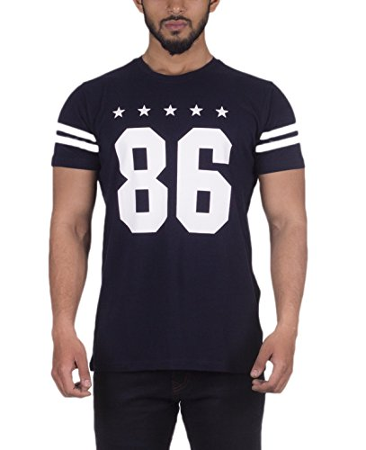 Urban Age Clothing Co. 86 Mens T-shirt (Medium, Navy Blue)