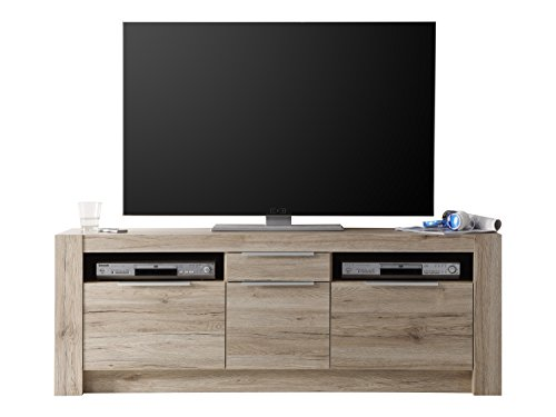 Maisonnerie 1317-852-90 Cougar Meuble TV Armoire Chêne de San Remo LxHxP 161 x 59 x 40 cm