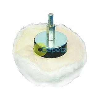 Dapetz ® 60mm High Quality 100% Cotton Dome Polishing Mop Buffing Wheel Polish Drills