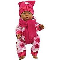 Handarbeit Puppenkleidung 43 cm passend für zb Baby Born Kleidung Set Handmade 08