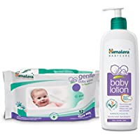 Himalaya Baby Lotion 400ml with Wipes (72 Count) Combo