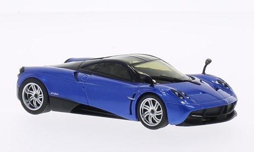 pagani-huayra-metallizzato-blau-nero-modello-di-automobile-modello-prefabbricato-welly-143-modello-e