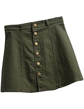 Falda de verano, RETUROM Faldas de mezclilla de la cintura de la manera de las mujeres