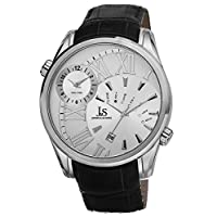 Joshua & Sons Men's Silver Dial Leather Band Watch [Js72Ss], Analog Display