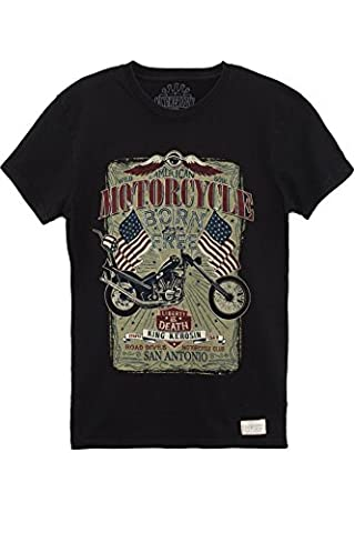 King Kerosin T-Shirt Born To Be Free Black-M