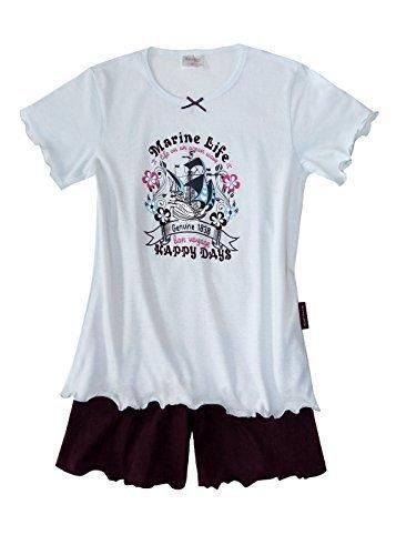 Schlafanzug kurz Mädchen Kinder Pyjama kurz Mädchen Nachthemd kurz aus 100% Baumwolle softweich Gr 128