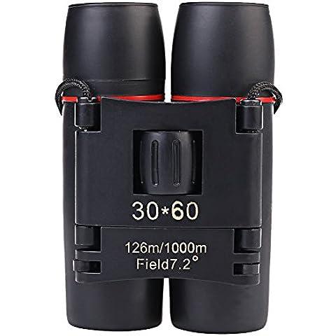 candoran portátil Ampliación 30x 60binoculares de visión nocturna por infrarrojos plegable telescopio Zoom óptico de