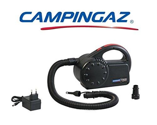 Pumpe Luftpumpe und sgonfiatore Quickpump Campingaz Akku mit Stromversorgung 230V ideal für Sitzauflagen und Schlauchboote-mit borasa er Transport