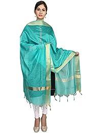 Home Shop Gift Pink Chanderi Silk Dupatta For Women - B0778NKMVS